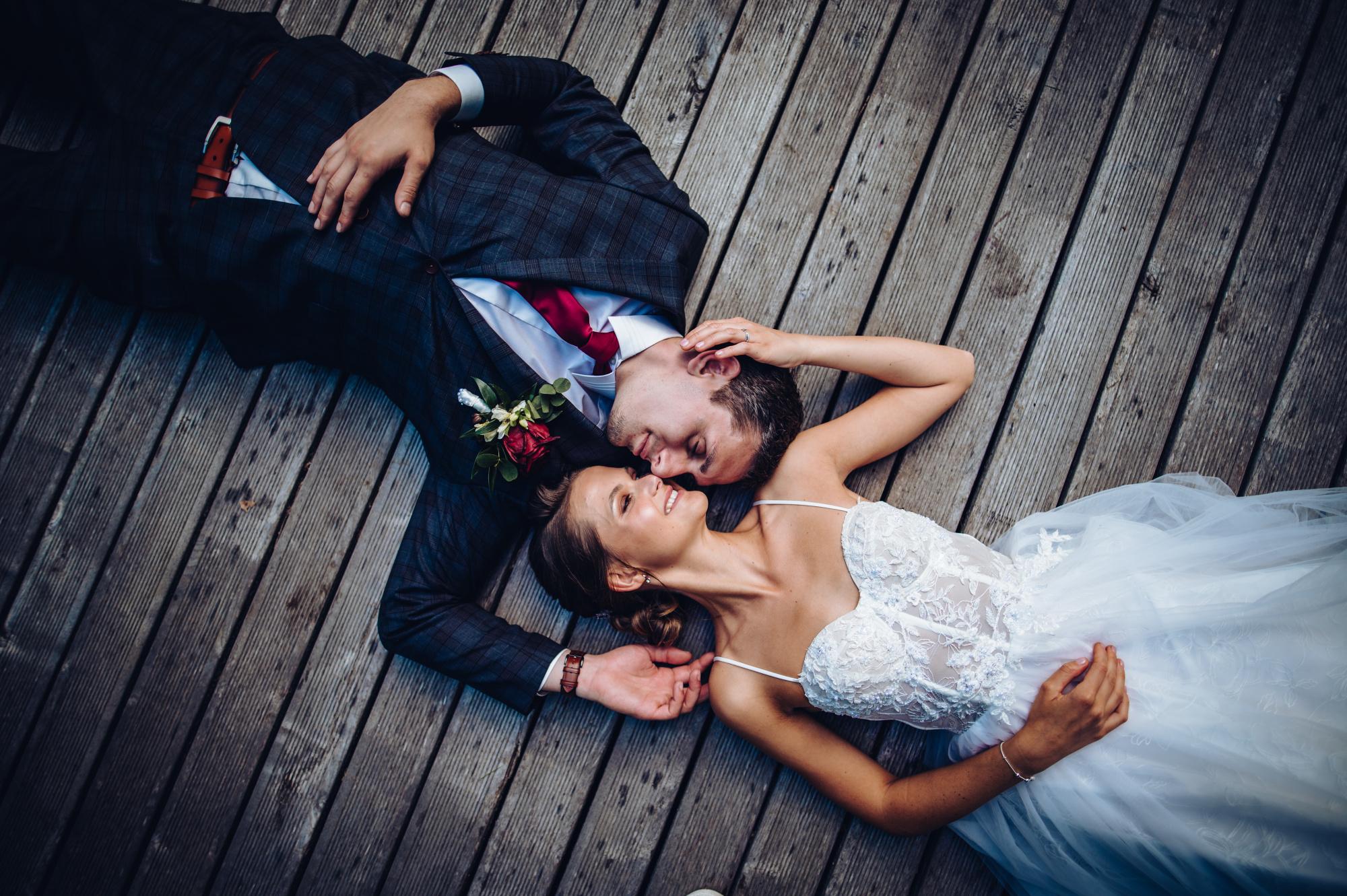 Svatební párové focení na mole