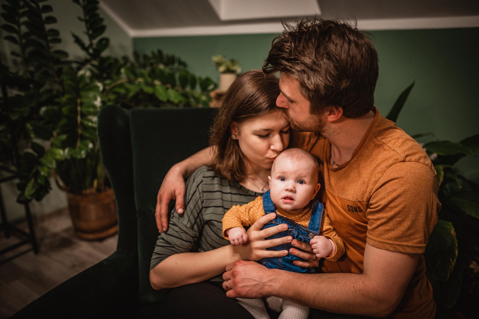 Rodinné focení doma s miminkem