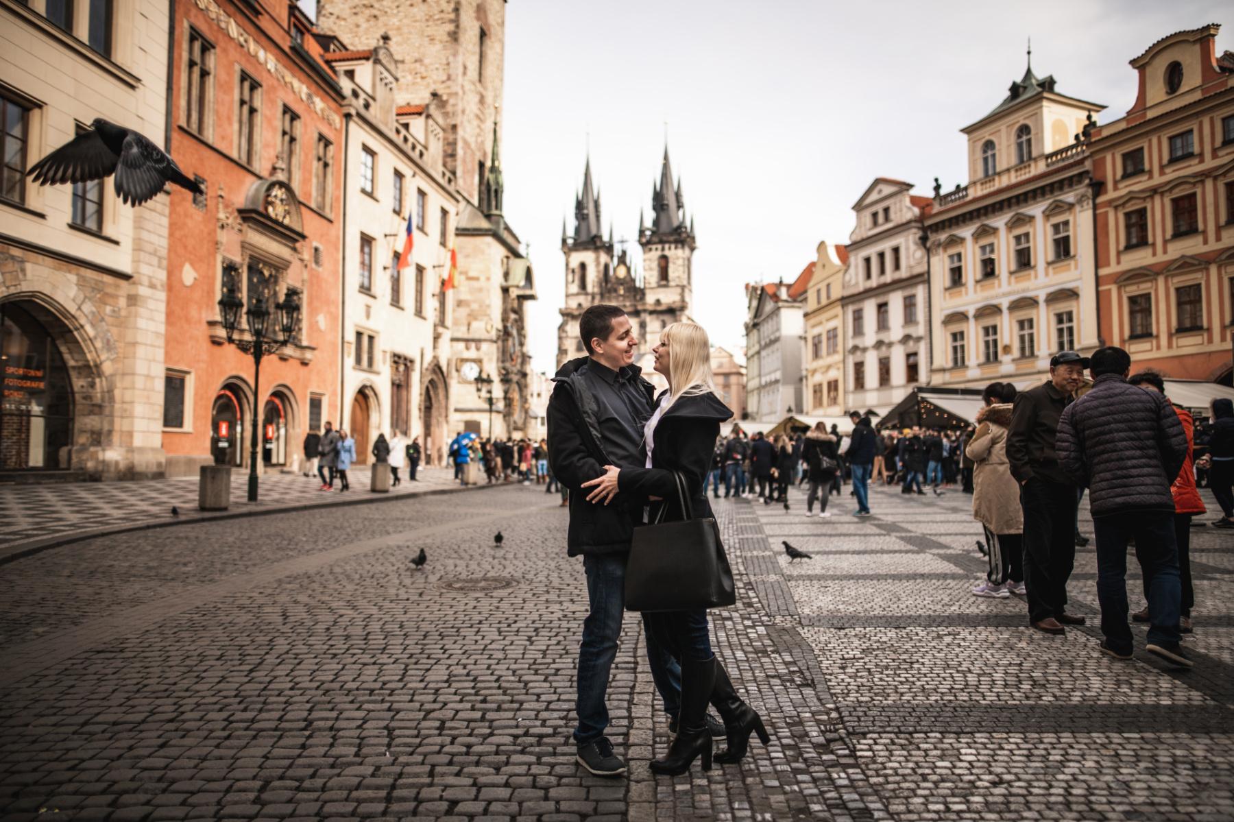 Párové focení v Praze u Orloje